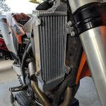 GPI Racing radiator KTM 250 sxf front fitment upper right