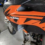 GPI Racing radiator KTM 250 sxf left side