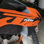 GPI Racing radiator KTM 250 sxf right side