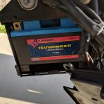 WPS Featherweight Lithium Battery installed