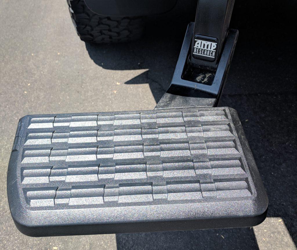 Amp Bedstep Black Plastic Restorer After