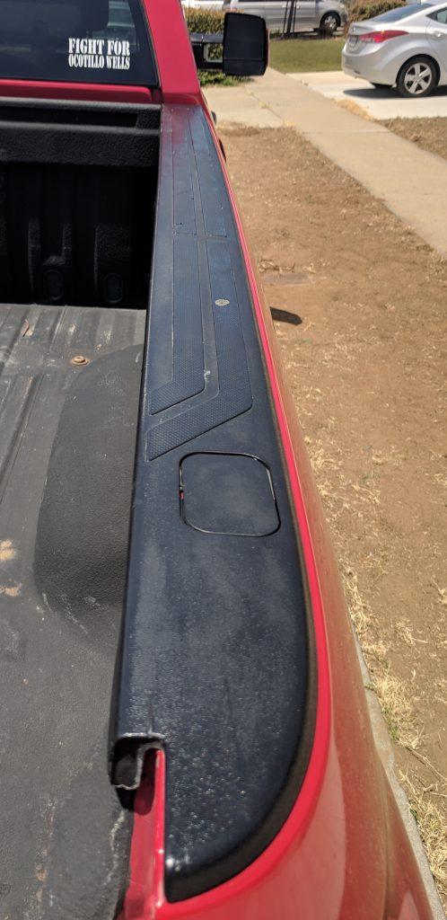 Bed Rail Black Plastic Restorer After