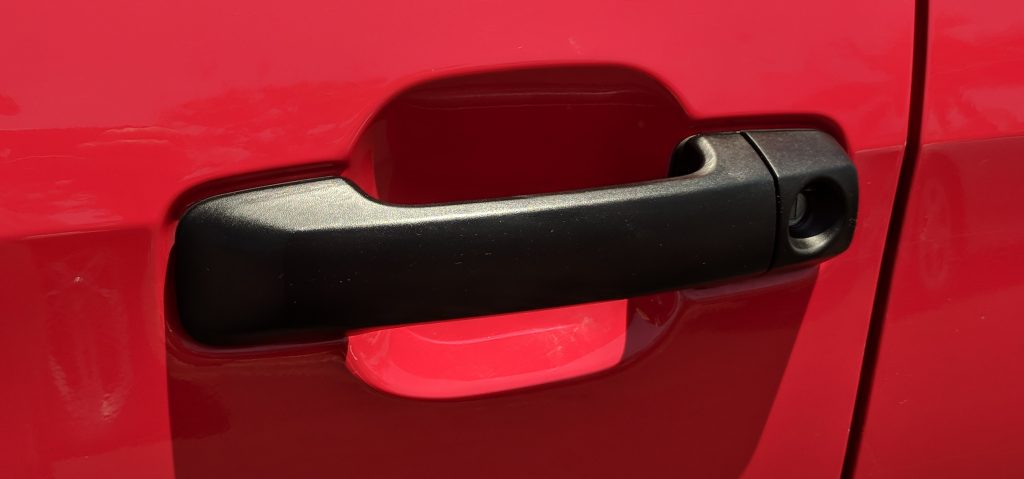 Door Handle Black Plastic Restorer After