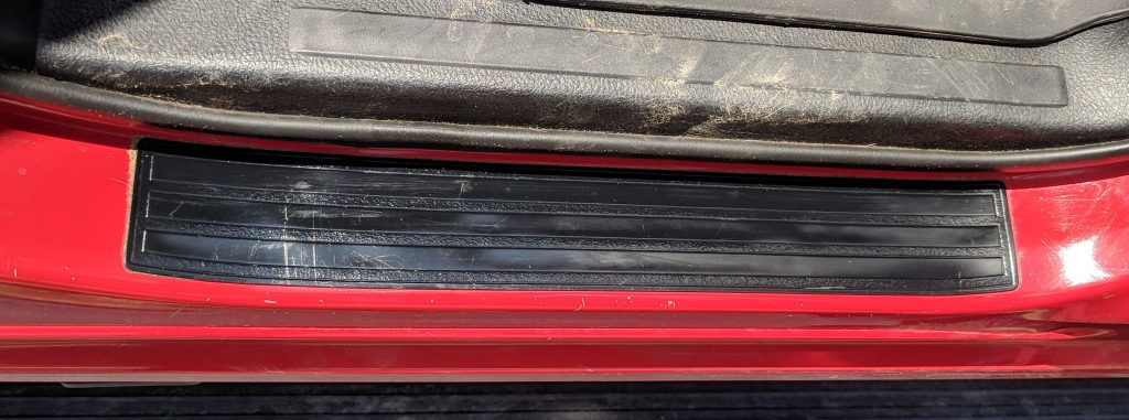 Door Sill Black Plastic Restorer After