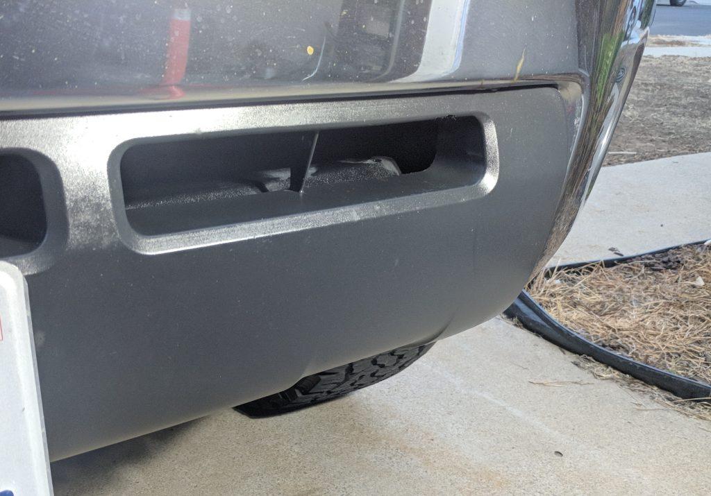 Lower Bumper Black Plastic Restorer After