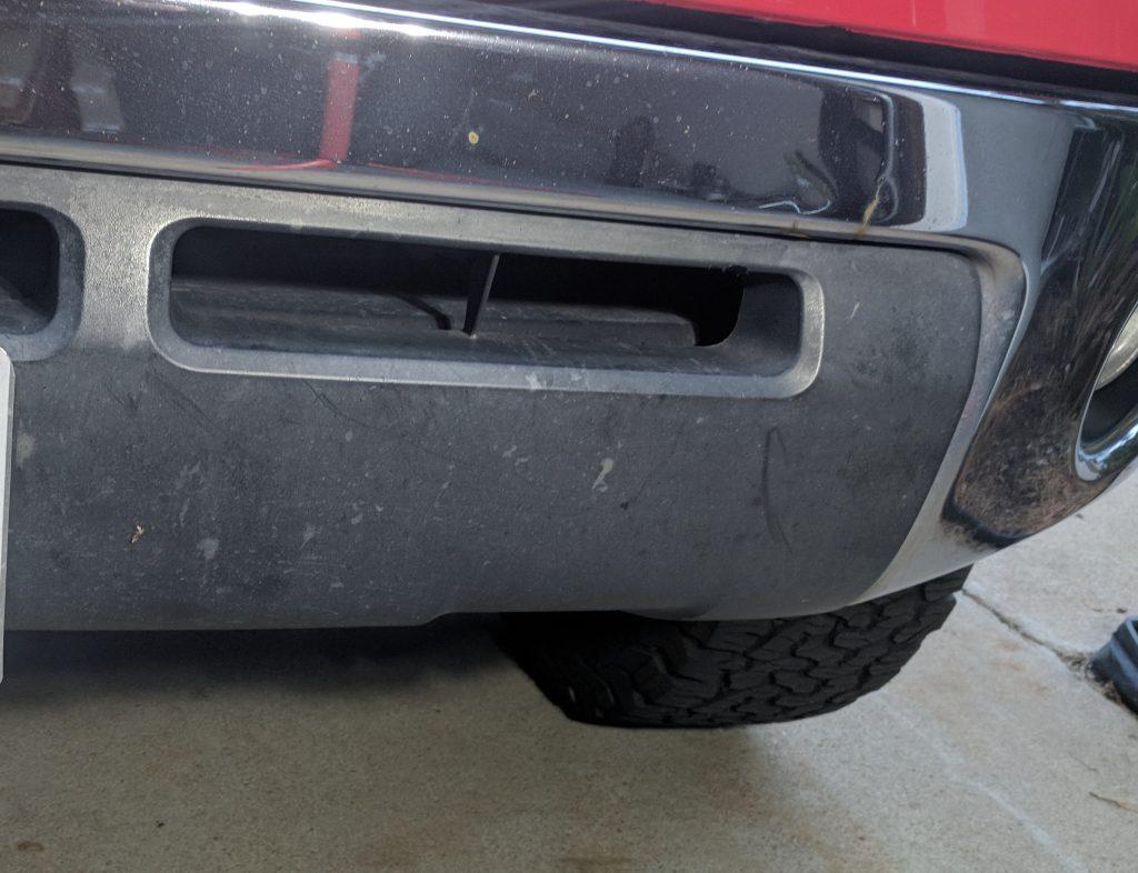 Lower Bumper Black Plastic Restorer Before