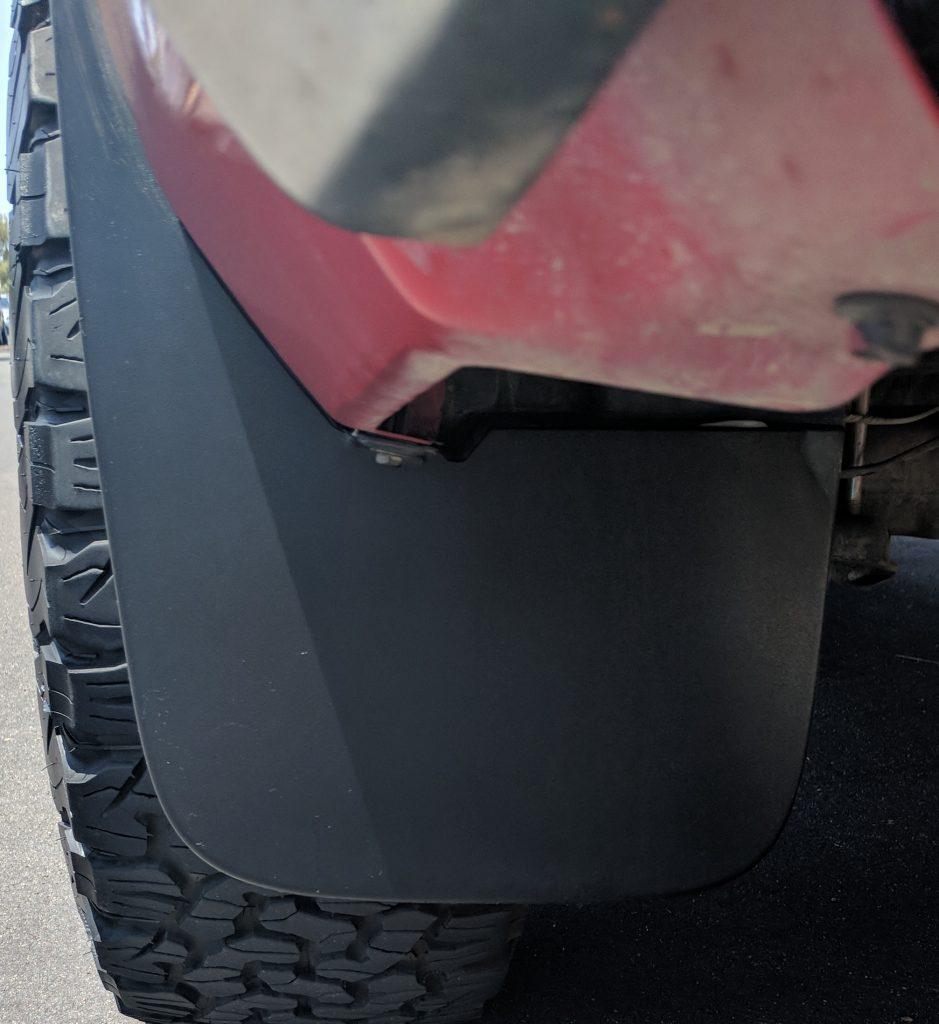 Mudflap Black Plastic Restorer After