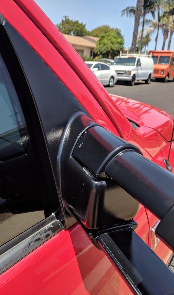 Side View Mirror Black Plastic Restorer