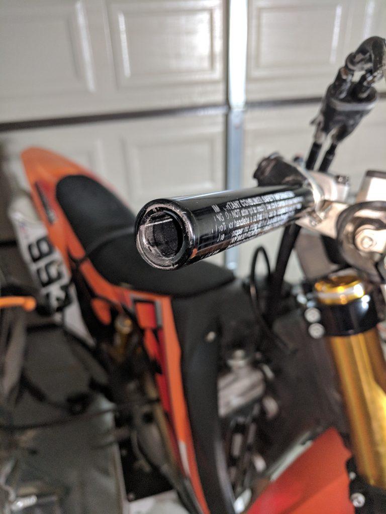 Pro Taper handlebar bar plug removed