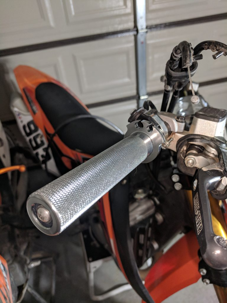 Tusk Aluminum Throttle Tube installed