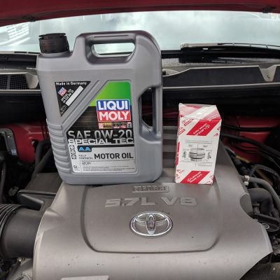 Toyota Tundra 5.7 Oil Change Oil And Filter