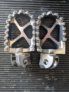 Tusk Billet Race Foot Pegs Tops
