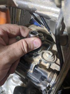 KTM 250 Spark Plug Hand Tighten