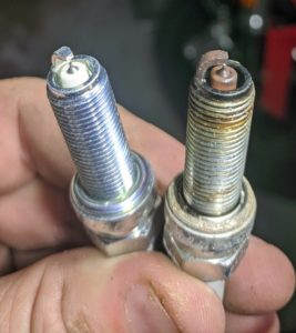 KTM 250 Spark Plug Old vs New